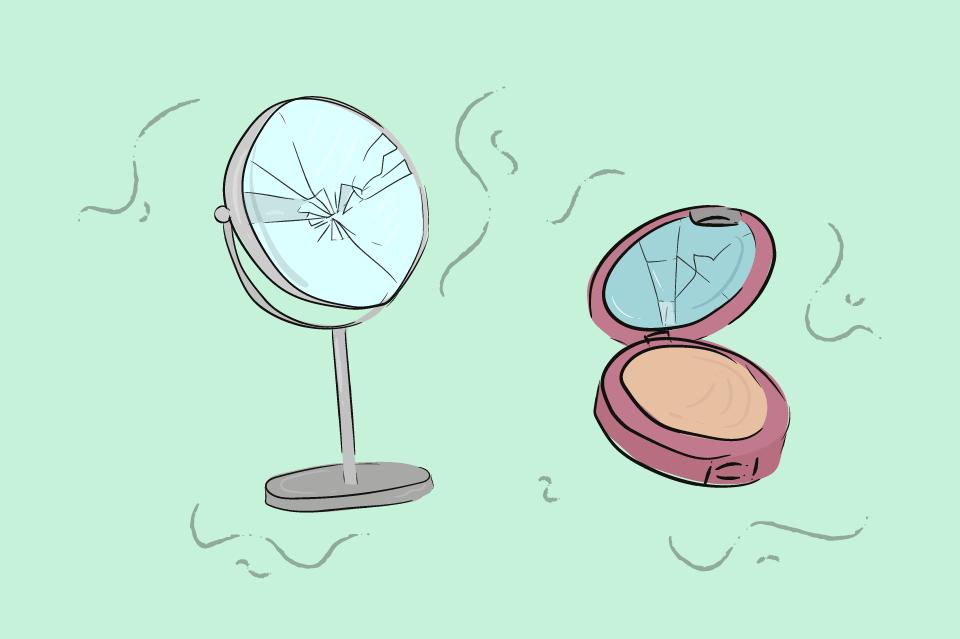 zrcatko pudrenka