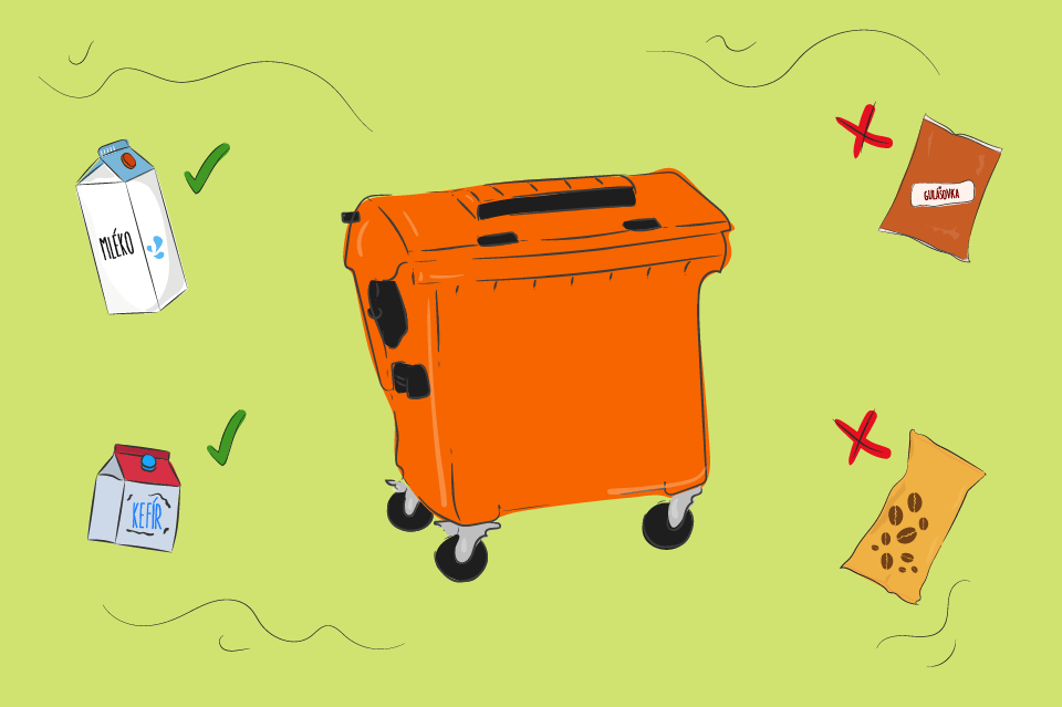 Oranzovy kontejner napojovy karton