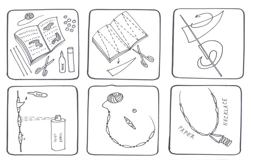 CF-workshop-návod-náhrdelník-ze-starého-papíru