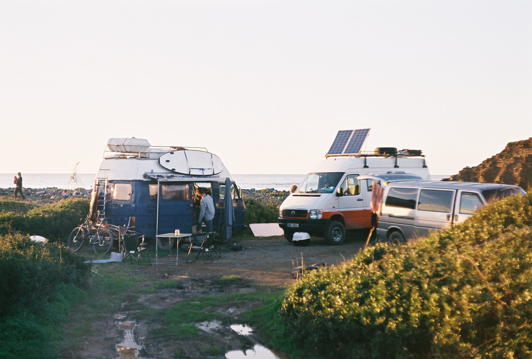 Parkování awildcamping umoře. Zdroj: Osobní archív Dominiky Jelínkové