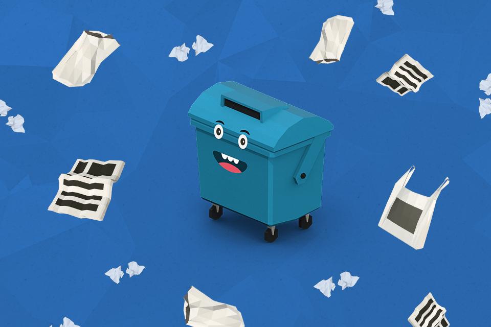 Samosebou_modry_kontejner_papir