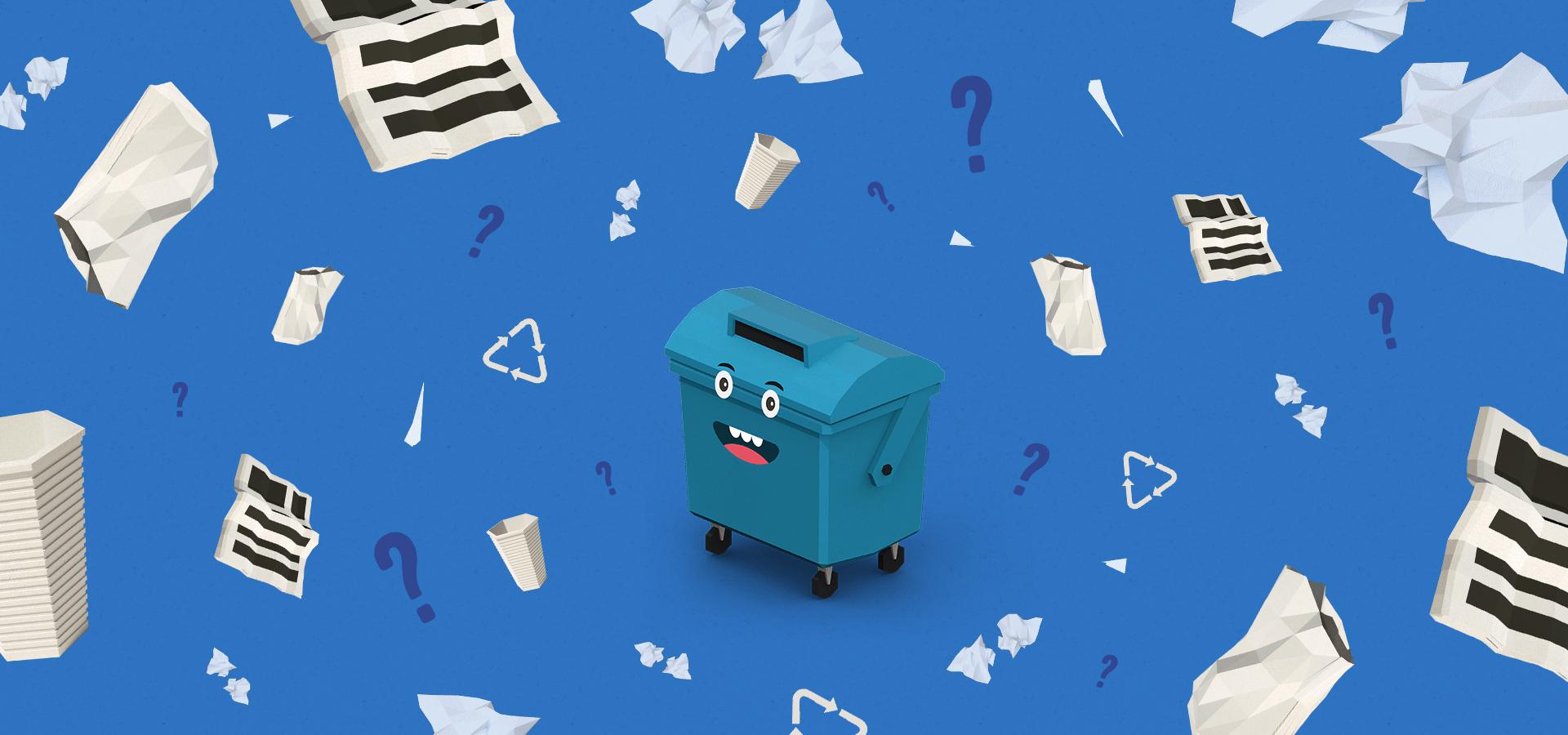 Víte, jaký papír není vhodný prorecyklaci?